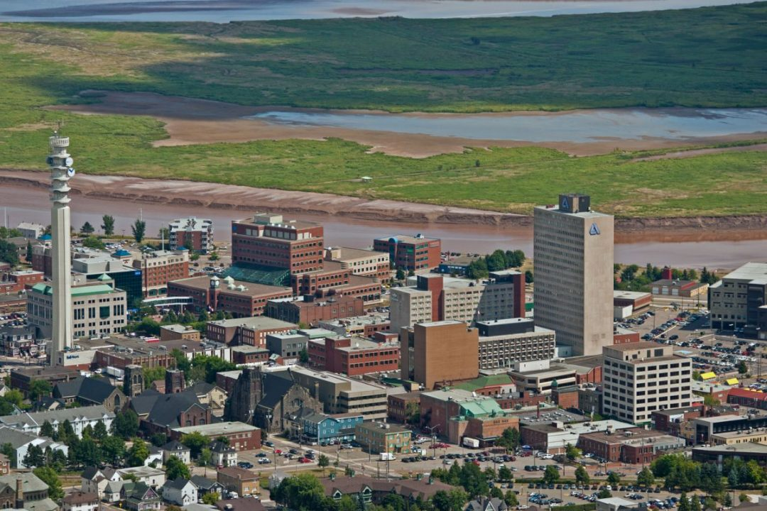 Aerial View of Downtown Moncton